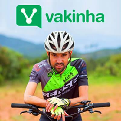 Foto do José Ilson com logo da plataforma Vakinha