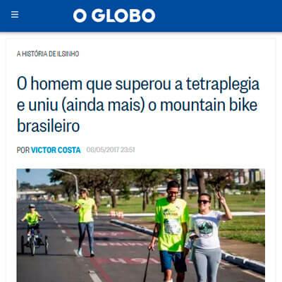 Foto de matéria no site O Globo
