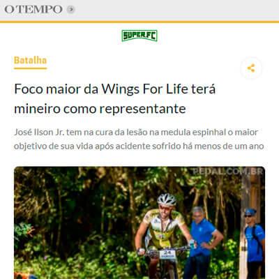 Foto de matéria no site O Tempo