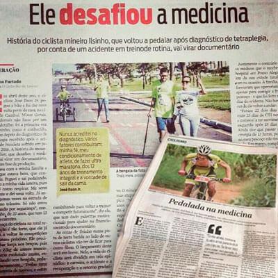 Fotos de jornais com reportagens sobre o José Ilson